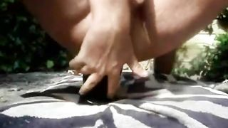 This super perverted dude loves to impale himself on his toy outdoors--_short_preview.mp4