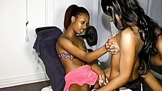 Ebony teens fuck each other with strapons--_short_preview.mp4