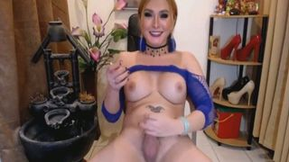 Hot Tranny Jerking on her Big Dick--_short_preview.mp4