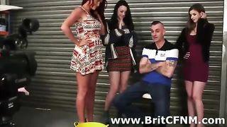 British femdom babes strip and suck CFNM amateur--_short_preview.mp4