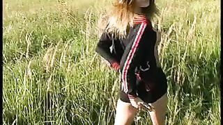 My cute Russian girlfriend Ira takes off her panties in the filed--_short_preview.mp4