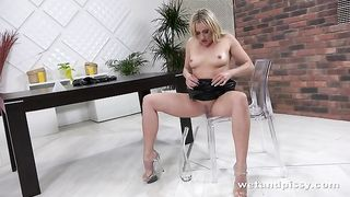 This hot MILF in leather dress is now soaked in piss--_short_preview.mp4