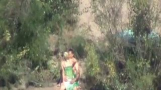 Hot spy video featuring one couple making love in the bushes--_short_preview.mp4