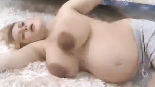Massive Titty Pregnant Girl Excersizing Topless--_short_preview.mp4