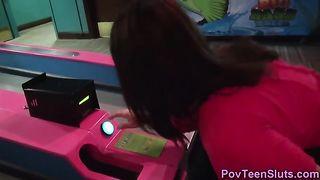 Pov teen deep throats dong in arcade--_short_preview.mp4