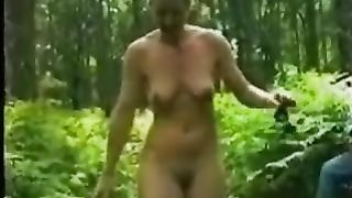 My sexy European wife in the woods naked on the trunk of the tree--_short_preview.mp4