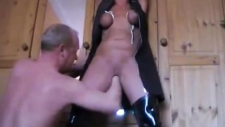 Bosomy blond mind gets her cunt finger fucked in BDSM sex scene--_short_preview.mp4