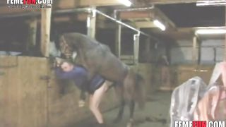 Horse penetrating very hard for a man - Beastiality XXX--_short_preview.mp4