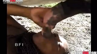 Ebony mature newcomer has her pussyscrewed stretched by a horse cock--_short_preview.mp4