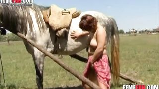 Bitchy milf grabs a huge stallion's cock and rides it nastily in a xxx beastiality video--_short_preview.mp4