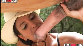 Horse fucks milf's mouth while the crazy slut is masturbating her horny pussy--_short_preview.mp4