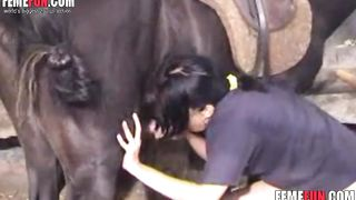 Horny brunette geek sucks a horse--_short_preview.mp4
