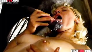 Sexy blonde slut tries all kinds of hardcore beastiality enjoys eating the horse's cum--_short_preview.mp4