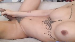 Masked Busty Shemale with Nice Body Ink Jerking Hard--_short_preview.mp4