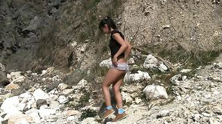 This chick just doesn't seem shy and she loves peeing outdoors--_short_preview.mp4
