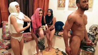 Dirty slut Arab Princess foursome sex with hijab friends in party--_short_preview.mp4