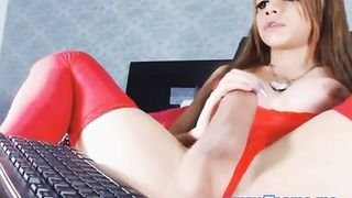 Webcam Teen Shemale has a Thick and Hard Cock--_short_preview.mp4
