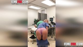 Sexy nurse gets fired for showing tits and pussy--_short_preview.mp4