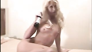Nasty blonde fucks her tight asshole with a beer bottle--_short_preview.mp4