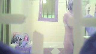 Spying on sexy blonde MILF in the bathroom--_short_preview.mp4