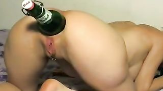 Using quite a huge green glass bottle spoiled blonde pets her pussy--_short_preview.mp4