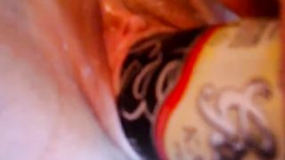 Majestic tattooed brunette milf babe fucks herself with a beer can--_short_preview.mp4