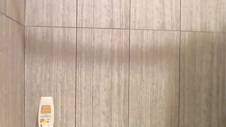 Nice light haired sexy MILF in glasses plays with her big tits in bathroom--_short_preview.mp4