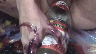 Plump goth BBW whore gets messy with cranberry sauce in kitchen--_short_preview.mp4