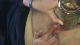 Lewd dark haired mature slut with big boobies used glass bottle to fuck slit--_short_preview.mp4