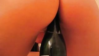 Big boobed chubby GF pets her pussy with champagne bottle--_short_preview.mp4