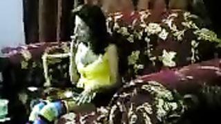 Lascivious brunette Arab wife smokes a cigarette wearing mini skirt--_short_preview.mp4