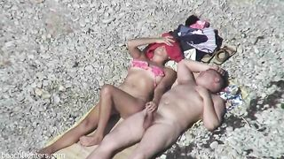 Spy cam video of curvy mature chick giving handjob to her hubby on beach--_short_preview.mp4