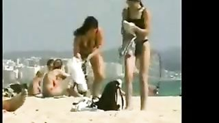 Two stunning amateur lesbian girls on the nudist beach--_short_preview.mp4