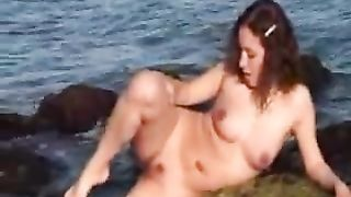 25 years old brunette girlfriend poses her naked body for me on beach--_short_preview.mp4