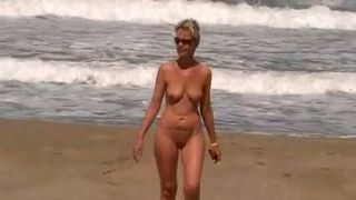 Beautiful and hot blonde milf wife on the beach nude--_short_preview.mp4