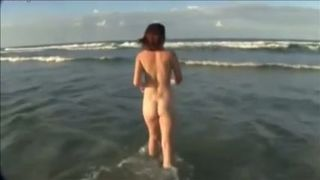 I film my sexy brunette friend swimming naked in the ocean--_short_preview.mp4