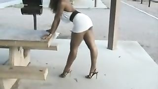 Beautiful and sexy ebony babe poses for a sexy photo shoot in her sexy short dress--_short_preview.mp4