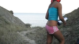 Skinny and busty girlfirend masturbates on the beach--_short_preview.mp4
