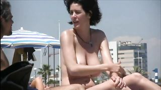 Spying on gorgeous woman on a nudist beach--_short_preview.mp4