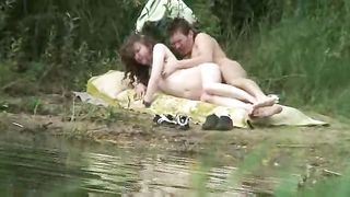 Kinky sex on the lake shore - horny couple got caught--_short_preview.mp4