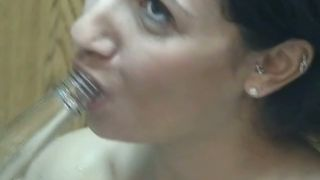 Cute brunette with big titties shoves a bottle in her pussy--_short_preview.mp4