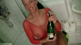 Just a bottle of champagne for the pleasures of my freaky milf GF--_short_preview.mp4