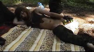 Carrie the lewd girl masturbates her cunt with a bottle outdoors--_short_preview.mp4