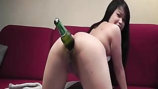 Asian slutty bitch in white stockings pushed green bottle in her asshole--_short_preview.mp4