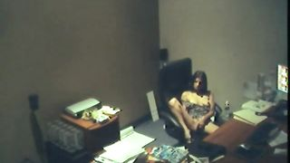 Amazing brunette young office girl masturbating on the chair--_short_preview.mp4