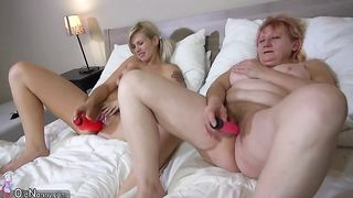 Busty blonde girl in the bedroom of a horny lesbian granny--_short_preview.mp4