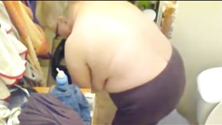 Four eyed granny with fine boobies has no idea she's been filmed--_short_preview.mp4