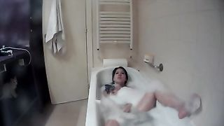 My bathing brunette babe was caught on cam while masturbating--_short_preview.mp4