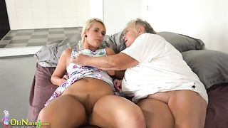 Delightful young blondie with old woman on the bed--_short_preview.mp4