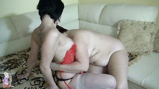 Bodacious granny gets her fat twat fucked with a strapon--_short_preview.mp4